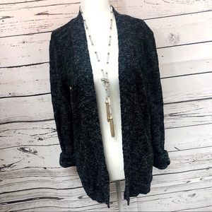 J. Crew Charcoal Black Sweater / Cardigan
